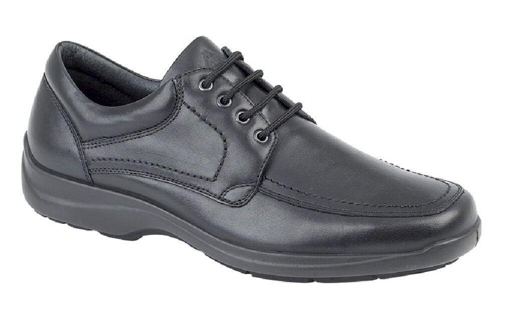 Imac 'Trevor Schutzblech Panel Krawatte Spitze Schuhe Schwarzes Leder    | Schönes Aussehen