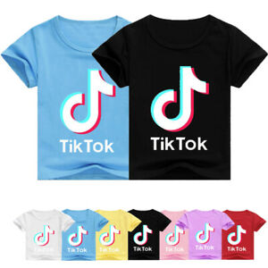Tik Tok Kids Short Sleeve T-Shirt Boys Girls Summer Casual Cotton Tops Tee Gifts