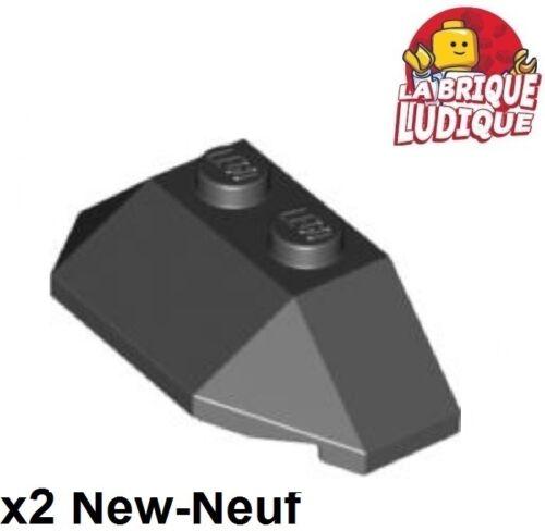 Schwarz 47759 Neu 2x Wedge 2x4 Triple Lego Brick Slope Schwarz Lego