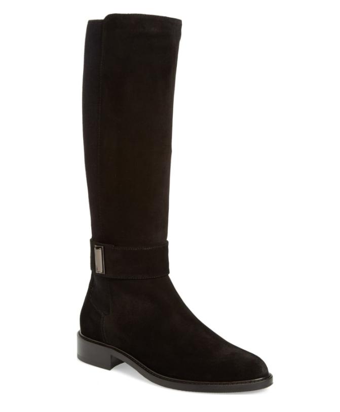 Aquatalia Giada Women's Black Weatherproof Riding Boot Sz 7 3057
