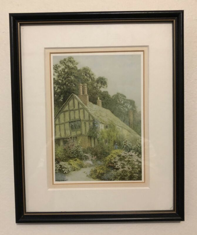 Print - Country Cottage with Flower Garden