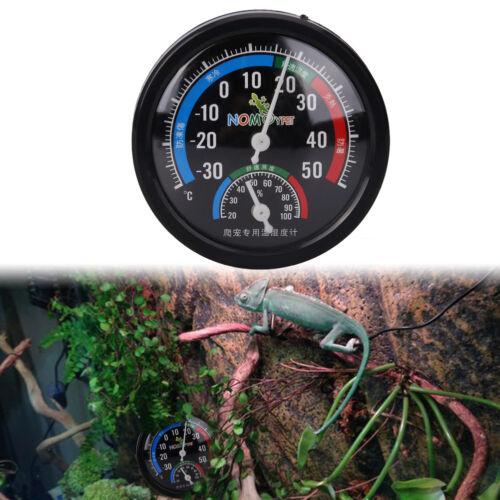Reptil Aufzuchtbox Innen Thermometer Analog Luftfeuchte Luftfeuchtigkeit Meter
