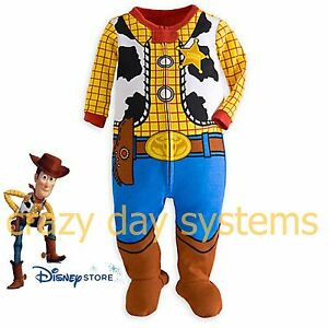 Disney store Woody Stretch Costume Pyjamas 12//18 M TOY STORY jeu set baby boy