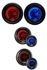 Prosport 52mm EVO Car Boost 3 Bar + Oil Pressure + Oil Temp Red Blue Gauges