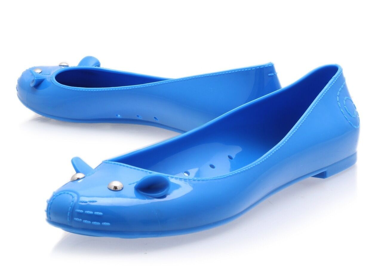 Marc BY MARC JACOBS blu JELLY MOUSE Love Me Ballerine Flats 5 !