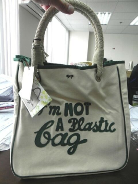 6d9cfbd0a3ef Anya Hindmarch - I m NOT A Plastic Bag - UK Edition   FREE SHIPPING ...