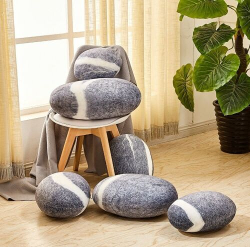 FIXED STAR LIGHT GREY STONES SHAPE PILLOWCASE//CUSHION COVER//SHELL WITHOUT STUFF