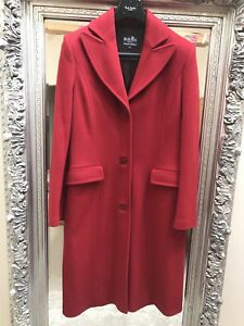 Claudia Coat Uk12 Designer Strater Over Rrp Classic Maura Style £400 TZfaq61