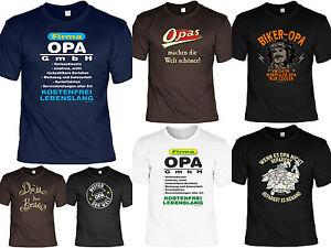 Sprüche T Shirt Opa Geschenk Geburtstag Opi Vatertag Funshirt