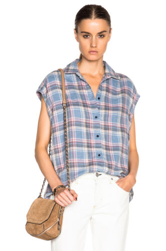 Blue And Grey Iro Jeans Dally Sleeveless Small In Shirt 0wYPZXqxP