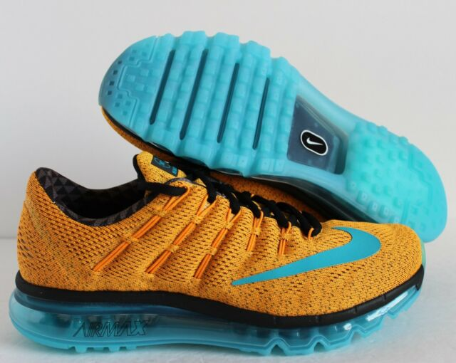 0fdd9f3fb54 Men s Nike Air Max 2016 N7 Shoes Size 9 Orange Turquoise 845396 844 ...