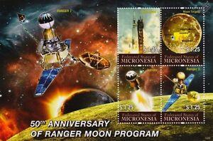 Ranger Vaisseau Spatial Lune Programme/lunar Sonde Espace Timbre Feuille #1 2011 Micronésie-afficher Le Titre D'origine Magasin En Ligne