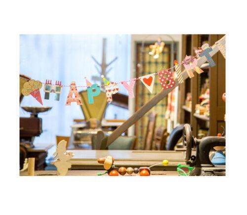 Girlande Happy Birthday Party Vögel Reise Wimpelgirlande Deko Geburtstag Kette