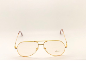 Vintage-Hilton-Exclusive-4-527-Gold-Unisex-Eyeglasses-Optical-Frame-Lunettes-RX