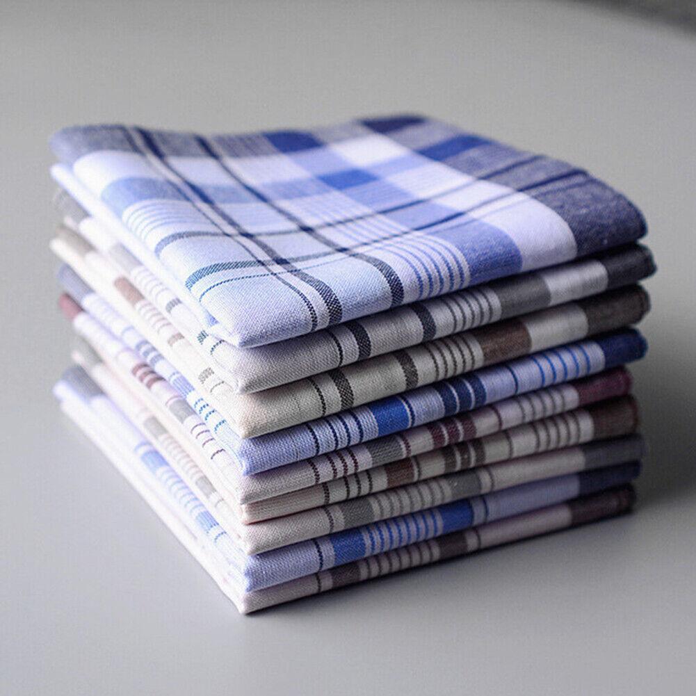5Pcs Herren Quadratisch Kariert Streifen Taschentücher Taschentuch Taschenuhr