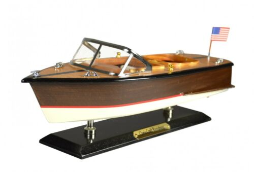 Amerikanisches Motorboot Chris Craft Runabout Holz Modellschiff Standmodell Fuß