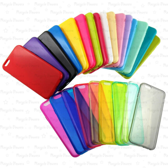 25 color TPU Thin Silicone Gel cover Case For Apple iphone 6 4.7 inch LOT