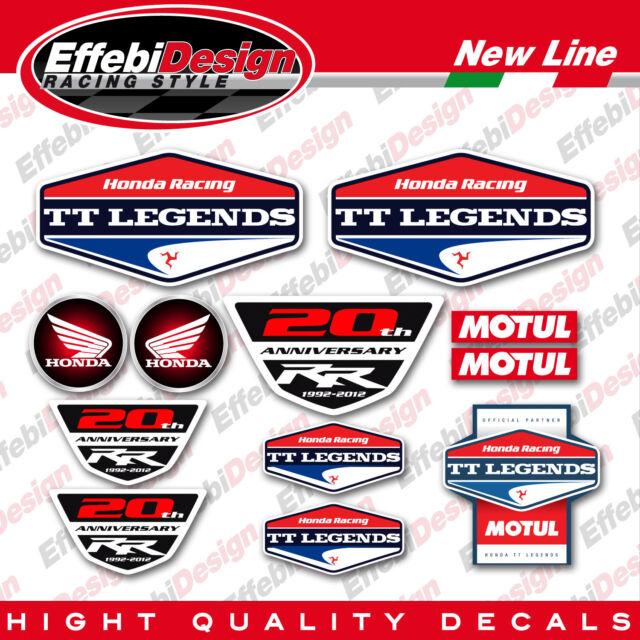 KIT ADESIVI sticker HONDA TT LEGENDS CBR 1000 600 vtr vfr hornet SBK 12 pezzi !
