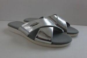 Cole-Haan-Augusta-Women-039-s-Flat-Sandal-Silver-Slide-Shoe-Size-8-5-10-5-M