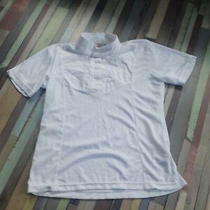 Aubrion short Sleeve stock Show Shirt UK 14 16 Large L  white