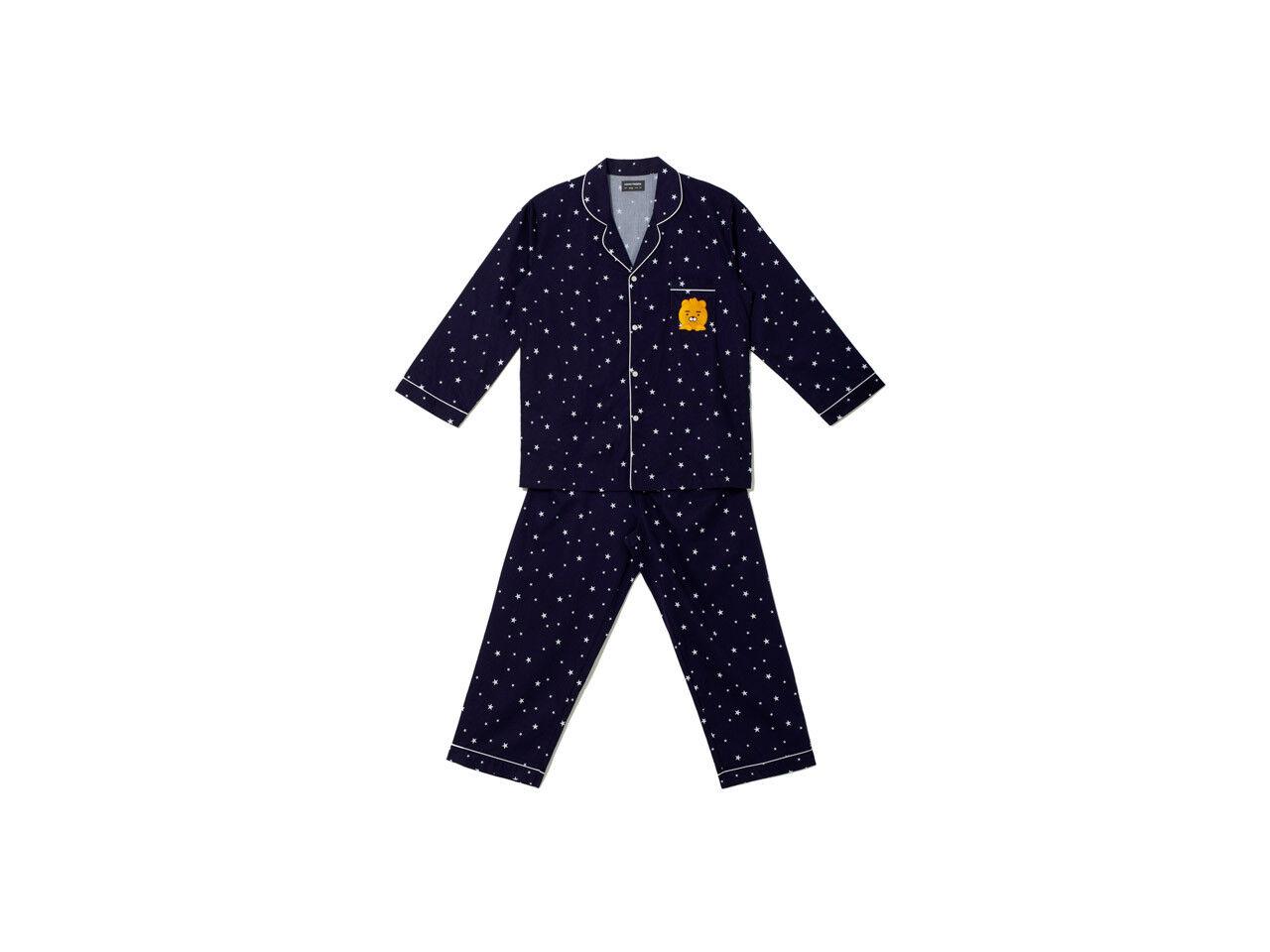 Kakao Friends Star Pattern pyjamas pour hommes Ryan Pyjamas 100% coton