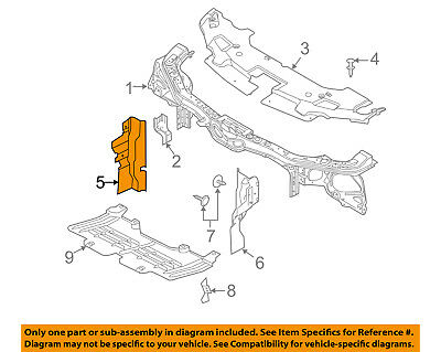FORD OEM Mustang Radiator Support-Side Air Baffle Duct Deflector Right DR3Z8310E