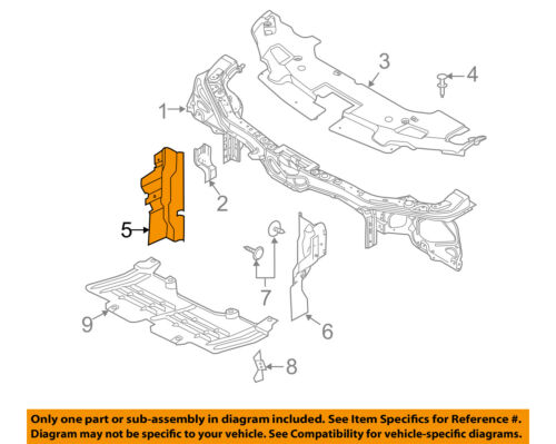 FORD OEM Mustang Radiator Support-Side Air Baffle Duct Deflector Right AR3Z8310B