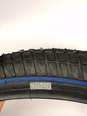 Ilegal tyres Blue Strip//Black 20X2.35 BMX Old school