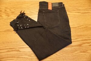 NWT-WOMEN-039-S-LEVI-JEANS-711-Size-24W-Plus-Ankle-Skinny-Lace-Up-Mid-Rise-Black