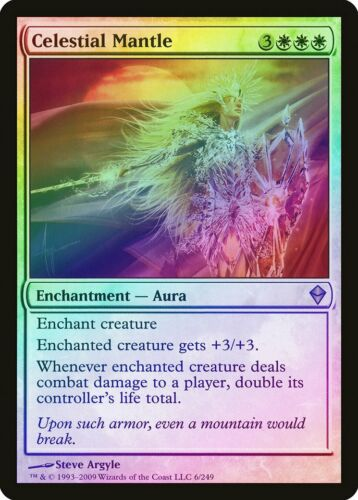 Celestial Mantle FOIL Zendikar PLD White Rare MAGIC GATHERING CARD ABUGames