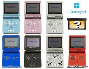 Nintendo-GameBoy-Advance-Konsole-GBA-SP-GRATIS-SPIEL-Farbe-nach-Wahl-TOP