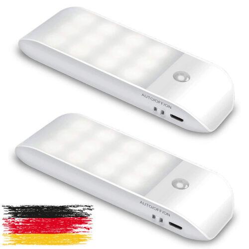 LED Nachtlicht mit Bewegungsmelder und Dämmerungssensor 2 Stück LED Licht USB DE