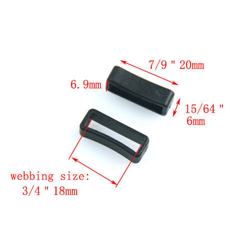 Plastic Black Keeper Belt Loop Square Loop Leather Craft