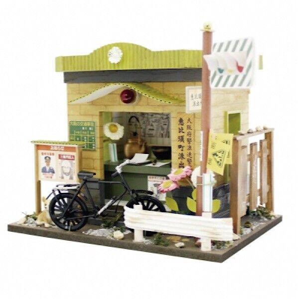 Japón casa de muñecas en miniatura Diorama arquitectura de caja de policía Figura Kit Billy F S