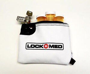LOCKMED-Small-Fire-Resistant-Medication-Lock-Bag-w-Key-amp-Combo-Lock-Free-Ship