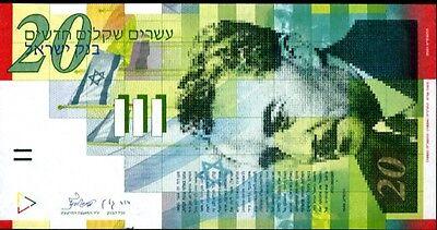 ISRAEL 20 SHEGALIM 2014 P 59 NEW UNC