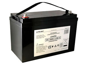 Lithium Battery 100AH 12V Volt Rechargeable Portable Prospecting Solar Camping