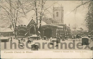 HIGH-WYCOMBE-All-Saints-Parish-Church-Postcard-BUCKINGHAMSHIRE-Symonds-Bros-Snow