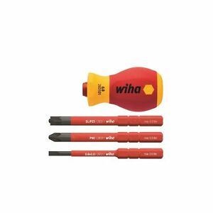 Wiha VDE Stubby Screwdriver Set with 3 Bits - GERMANY BRAND