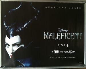 Details About Cinema Poster Maleficent 2014 Advance Quad Angelina Jolie Elle Fanning