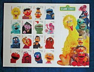 Postage-Stamps-of-Sesame-Street-Muppets-Bert-Ernie-Oscar-Big-Bird-12-more