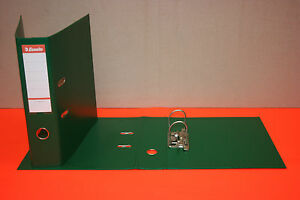 10 Classeurs Vert Esselte En Plastique Format A4 Dos 75 Mm 2 Anneaux Neuf