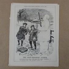 "7x10 ""PUNCH CARTOON 1928 il snow-throwers INNO Baldwin"