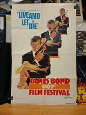 JAMES BOND 007 FILM FESTIVAL style A 1sh '76 Roger Moore as 007 w/sexy girl!