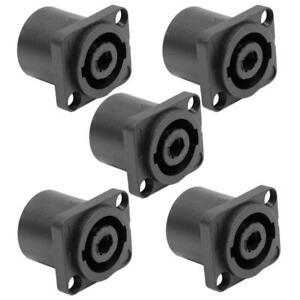 2pc Speakon Male Plug Speaker 4 Pole Conductor Audio Cable Connector  HQ