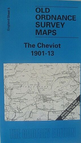Old Ordnance Survey Map The Cheviot Cheviot Hills /& Map of  Biddlestone 1901-13