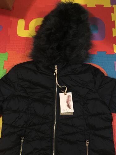 Jacket Hooded Teddy Simpson Hyggelig Fur M Jessica Trim 200 Faux Nwt wO0qRa8n