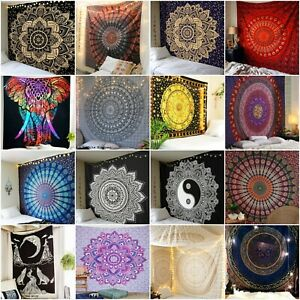 Indian-Mandala-Wall-Hanging-Tapestry-Dorm-Decor-Bohemian-Hippie-Bedspread-Throw