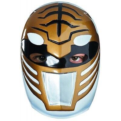 White Ranger Mask Costume Accessory Adult Mighty Morphin Power Ranger Halloween