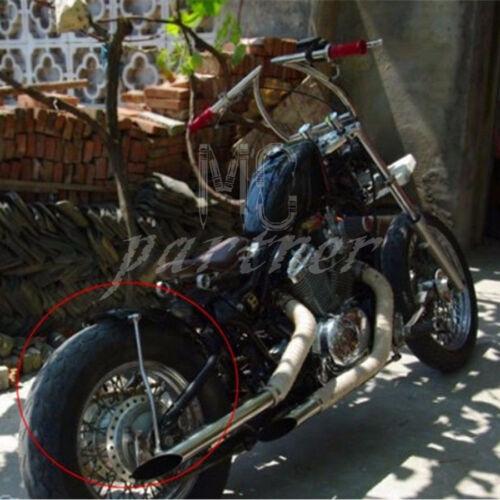 Black Rear Fender Rail Support Bracket Mount Holder Harley Cruiser Cafe Bobber